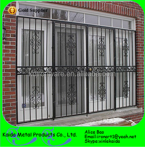 Cheap decorative wrought iron window grill design for for Window design for house in india