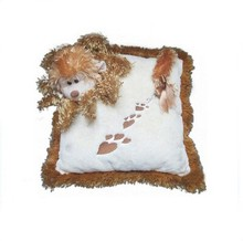 Top quality cheap soft plush dog pillow,plush cushion pillow