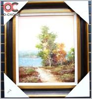 Nature Retreat ORIGINAL Wall ART Mountains Canvas picture OIL PAINTINGS LANDSCAPE