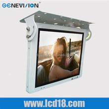 18.5 inch hdmi flip down monitor advertising display