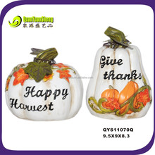 Autumn harvest fall decoration artificial white pumpkin