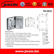 Jinxin stainless steel 135 degree glass hinge YK-2012