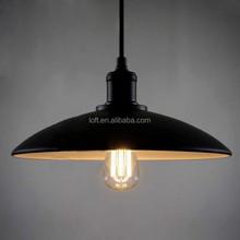 Industrial vintage umbrella shaped pendant light black/white hanging wire chandelier