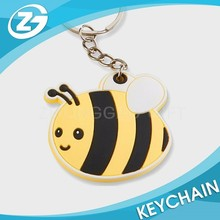 Bees Shaped Soft PVC Rubber Vinyl Rubber Keyrings