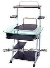 Muebles modernos de madera y vidrio mesa de ordenador modelos con precios para la escuela / del hogar WY-8121