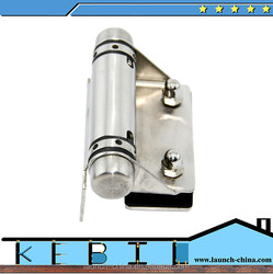 Mirror polished hinge glass door for terrace railing