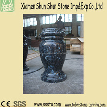 Blue Pearl Imported Granite Flower Vases for Tombstone
