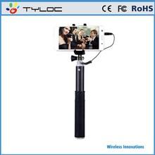 Innovative Design Aluminium Alloy Selfie Stick Monopod Battery Free Extendable Handled Stick for iPhone