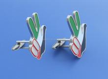 new style UAE victor hand shape metal cufflinks 2015