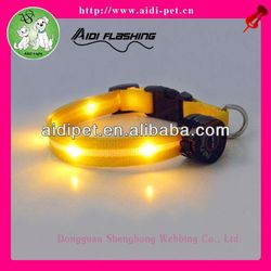 USB&solar rechargeable LED light pearl collars for dogs