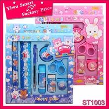 korean school supplies for kids custom design 9pcs glue stick happy bear stationery gift set