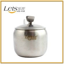 Yiwu Manufactuare Cheap 4 PCS Stainless Steel Seasoning Bottle Spice Jar Cruet Set