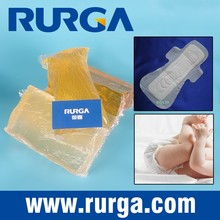 Hot melt pressure sensitive adhesive for diaper, sanitary napkin