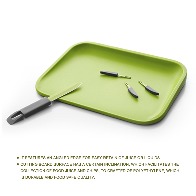 2014 OEM/ODM Chopping Board with a storage for Knife and Forks
