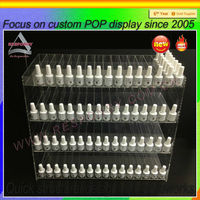 Acrylic e liquid tray stand new product lucite e juice bottle holder plexiglass ejuice display