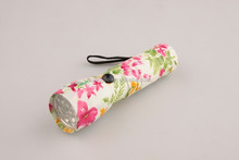 Mental Floral Printing LED Flashlight Torch
