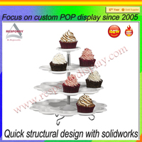 custom acrylic rotataing floor standing display stand for cake