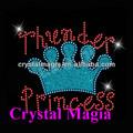 Reina de la belleza corona hierro con adornos purpurina para ropa