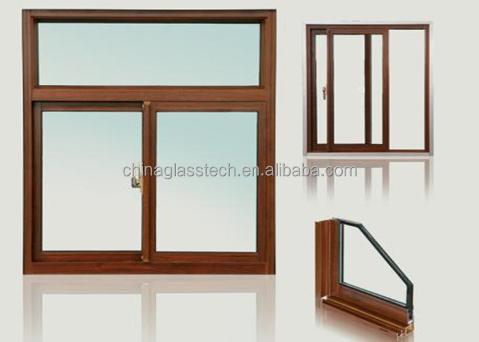 Ce aluminum frame tempered glass fixed horizontal sliding for Aluminum storm windows