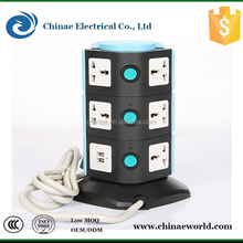 New products 2015 innovative product tower plug with 11 plug points and 2 USB port in universal standard