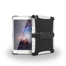 Wholesale shockproof case for ipad mini/armor mobile phone cover case/2 in 1 armor case for ipad mini