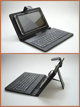 7 Inch Tablet PC Crystal Texture PU Leather tablet Keyboard Case with Stand