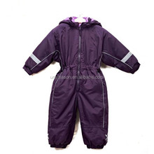 Winter Chidren Purple Protective Outdoor Ski Clothing