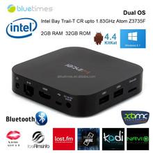 W8 mini PC 64 bit Intel Atom Z3735F CPU windows 8.1 smart computer 2GB DDR3 32GB ROM faster than android smart tv box