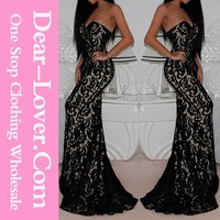 Sweetheart ladies Whole Lace Mermaid Cocktail Dress Under $20