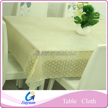 Restaurant Wholesale Vinyl / PVC Tablecloth with Coating