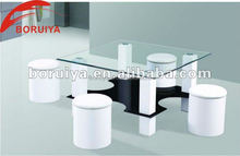 living room furniture center table design/coffee table tempered glass top
