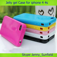 Mobile phone case jelly gel TPU case for iphone 4 4s, for iphone tpu case