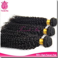 wholesale unprocessed natural black chinese kinky curly extension hair
