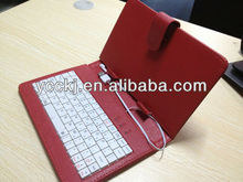 super price new design leather material universal keyboard case for tablet pc 7inch/8inch/9inch/9.7inch/10.1inch made in china