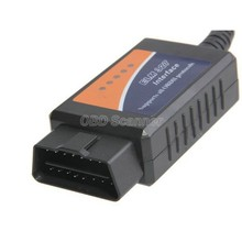 Wholesales OBD/OBDII scanner ELM 327 car diagnostic interface scan tool ELM327 USB supports all OBD-II protocols