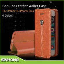 Phone Accessory 2015 Mobile Flip Leather Case For Apple iPhone6+