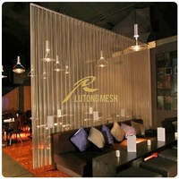 Decorative Metal Mesh Drapery /Metal Mesh Curtain/Metal Coil Drapery