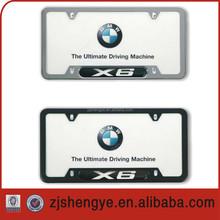 custom embossing car license plate frame