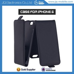 Wallet Magnetic Up Down Flip Leather Case Top opening vertical case for Iphone 6