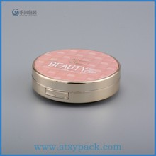 Round cosmetic compact powder cases