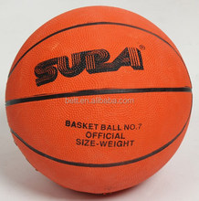 Good quality size 7 rubber basketball with costom logo