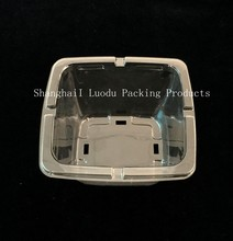disposable PET clear blister plastic meat/vegetable/fruit packaging tray