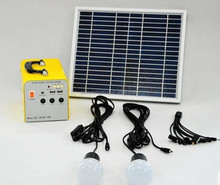 power solution 10W solar portable system wildely used as home lighting