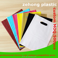 colored logo printing plastic bag for toggery