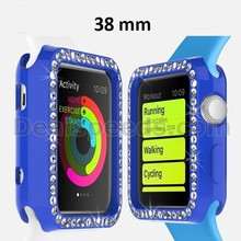 38MM Colourful Shinning Silicon Watch Case for Apple Watch-Deep Blue