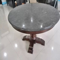 Polished Round Blue Limestone Tables Tile Top