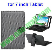 Leather Universal Keyboard Case for 7 inch Tablet PC with Micro USB