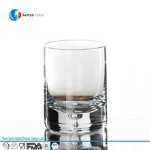 venta al por mayor highball de vasos de vidrio de la burbuja con base en