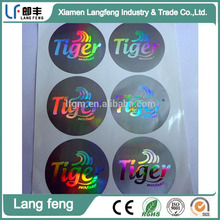3D laser sticker with company logo printing