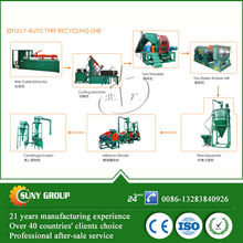 high output rubber powder scrap rubber tyre recycle machine CE used crumb rubber equipment